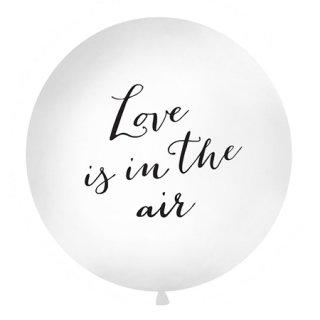 特大バルーン Love is in the air White×Black