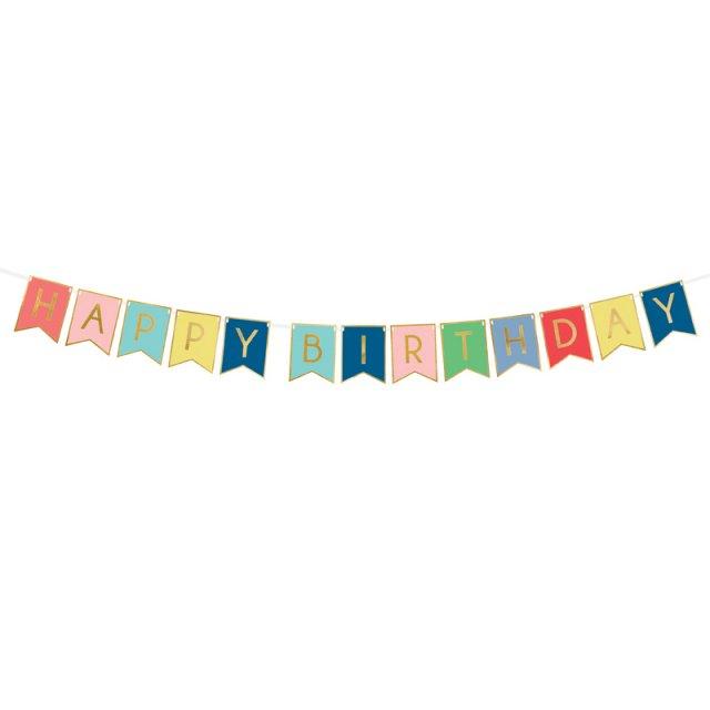 レターバナー HAPPY BIRTHDAY Mix Color