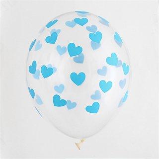 Heart クリアバルーン  ブルー