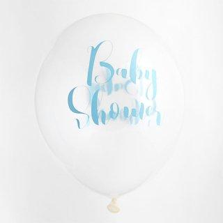 Baby Shower クリアバルーン  ブルー