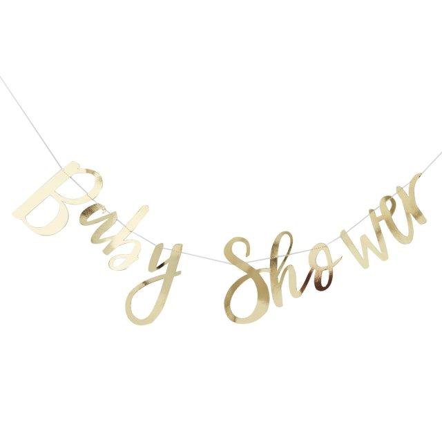スクリプトガーランド Baby Shower ゴールド - Ginger Ray