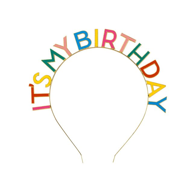 <img class='new_mark_img1' src='//img.shop-pro.jp/img/new/icons14.gif' style='border:none;display:inline;margin:0px;padding:0px;width:auto;' />Talking Tables  IT'S MY BIRTHDAY ヘッドバンド