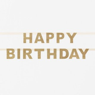 <img class='new_mark_img1' src='//img.shop-pro.jp/img/new/icons14.gif' style='border:none;display:inline;margin:0px;padding:0px;width:auto;' />グリッター HAPPY BIRTHDAY バナー ゴールド My Little Day