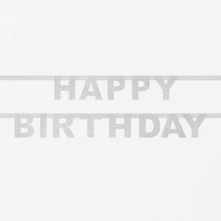 <img class='new_mark_img1' src='//img.shop-pro.jp/img/new/icons14.gif' style='border:none;display:inline;margin:0px;padding:0px;width:auto;' />グリッター HAPPY BIRTHDAY バナー シルバー My Little Day
