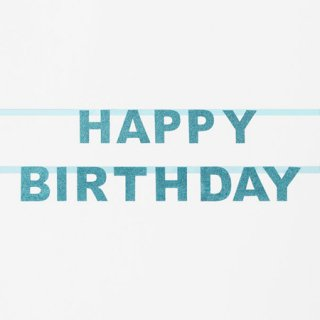 <img class='new_mark_img1' src='https://img.shop-pro.jp/img/new/icons14.gif' style='border:none;display:inline;margin:0px;padding:0px;width:auto;' />グリッター HAPPY BIRTHDAY バナー ブルー My Little Day