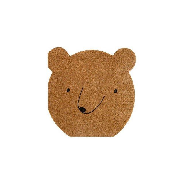 Bear ペーパーナプキン (20枚入) - Meri Meri