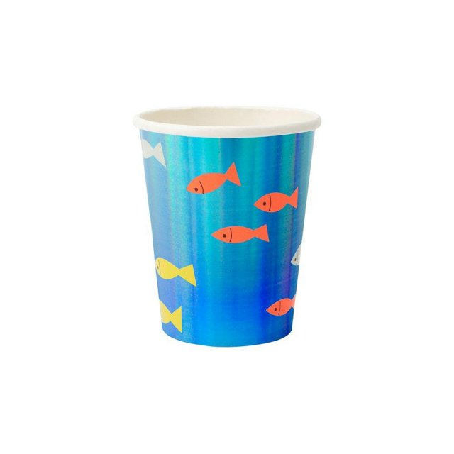 <img class='new_mark_img1' src='https://img.shop-pro.jp/img/new/icons14.gif' style='border:none;display:inline;margin:0px;padding:0px;width:auto;' />Under The Sea Cup ペーパーカップ 8個入 - Meri Meri