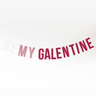 グリッターレターバナー BE MY GALENTINE