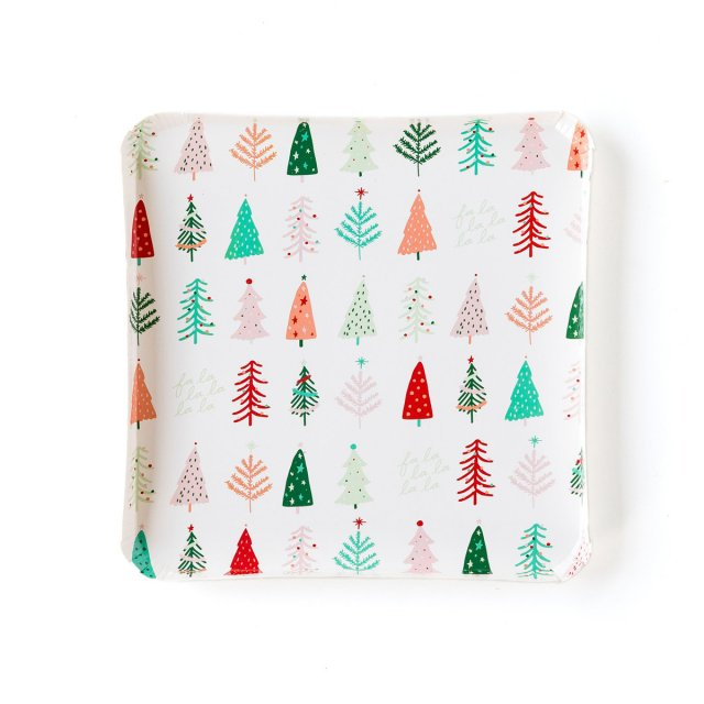 <img class='new_mark_img1' src='https://img.shop-pro.jp/img/new/icons14.gif' style='border:none;display:inline;margin:0px;padding:0px;width:auto;' />FESTIVE CHRISTMAS TREES  ディナープレート 8枚入 - My Mind's Eye