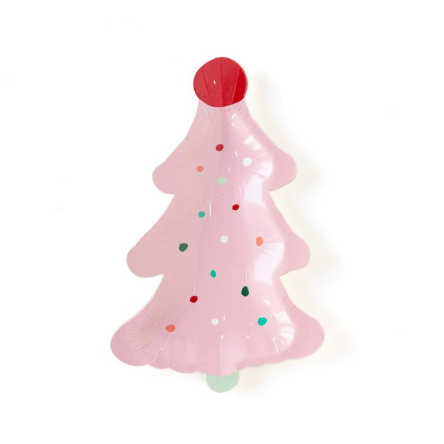 <img class='new_mark_img1' src='https://img.shop-pro.jp/img/new/icons14.gif' style='border:none;display:inline;margin:0px;padding:0px;width:auto;' />Pink Christmas Tree デザートプレート 8枚入 - My Mind's Eye