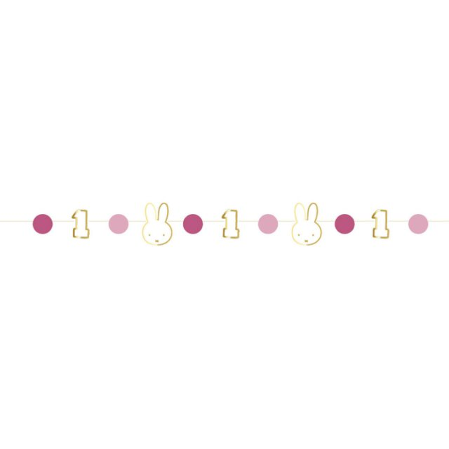 <img class='new_mark_img1' src='https://img.shop-pro.jp/img/new/icons14.gif' style='border:none;display:inline;margin:0px;padding:0px;width:auto;' />MIFFY FIRST BIRTHDAY ガーランド  PINK  80cm