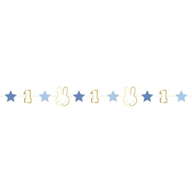 <img class='new_mark_img1' src='https://img.shop-pro.jp/img/new/icons14.gif' style='border:none;display:inline;margin:0px;padding:0px;width:auto;' />MIFFY FIRST BIRTHDAY ガーランド  BLUE  80cm