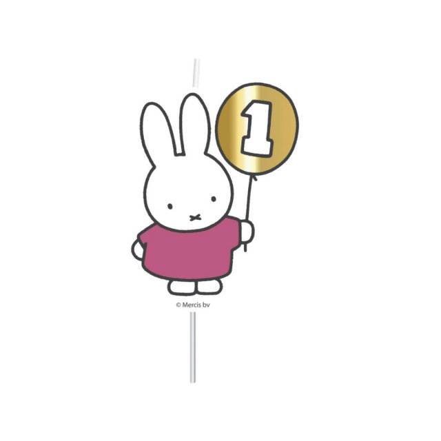 <img class='new_mark_img1' src='https://img.shop-pro.jp/img/new/icons14.gif' style='border:none;display:inline;margin:0px;padding:0px;width:auto;' />MIFFY FIRST BIRTHDAY キャンドル PINK