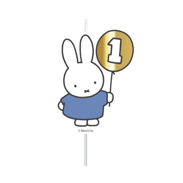 <img class='new_mark_img1' src='https://img.shop-pro.jp/img/new/icons14.gif' style='border:none;display:inline;margin:0px;padding:0px;width:auto;' />MIFFY FIRST BIRTHDAY キャンドル BLUE