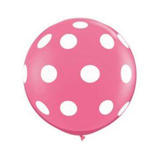 特大ドットバルーン|ピンク