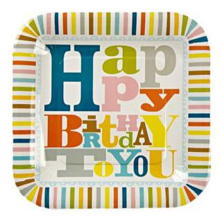 Meri Meri Happy Birthday パーティープレート Large size