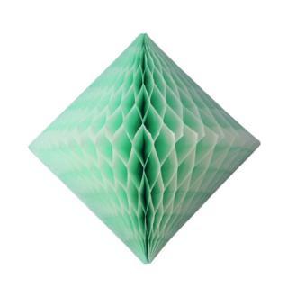 ハニカム ダイヤモンド ミントグリーン | 30cm