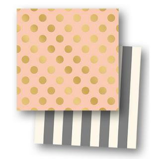 12インチペーパー Gold Foil Paper Pink - My Mind's Eye