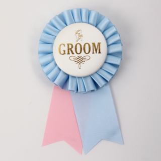 ロゼット GROOM  Light pink/Ivory/Light Blue