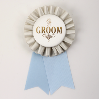 ロゼット GROOM  Gray/Ivory/Light Blue