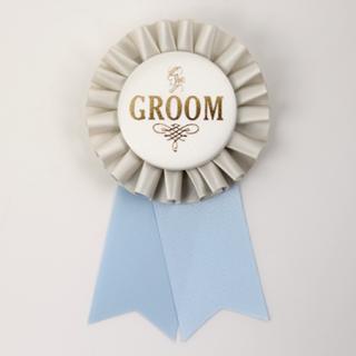 ロゼット GROOM  Gray/Ivory/Light Blue