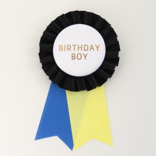 ロゼット BIRTHDAY BOY  Black/White/Yellow/Blue