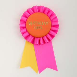 ロゼット BIRTHDAY GIRL Pink/Orange/Yellow