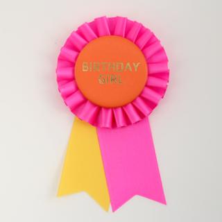 ロゼット BIRTHDAY GIRL Pink/Orange/Yellow