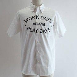 PLAYDESIGN (プレイデザイン)  THE PRINT BD SS SHIRTS (ザプリントBD SSシャツ) WHITE