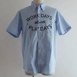 PLAYDESIGN (プレイデザイン)  THE PRINT BD SS SHIRTS (ザプリントBD SSシャツ) SAX