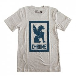 CHROME(クローム) LARGE LOCK UP TEE  HEATHER GRAY[セール]