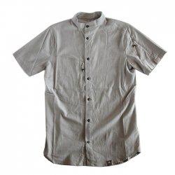 KLATTERMUSEN (クレッタルムーセン) Lofn Shirt Short Sleeve (ロフンシャツ ショートスリーブ) GleyMelenge