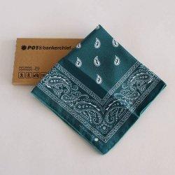 PLAYDESIGN(プレイデザイン) bankerchief(バンカチーフ) Green Paisley