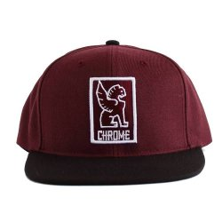 CHROME (クローム) SNAPBACK CAP (スナップバックキャップ) Maroon/white