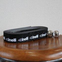 Cinelli(チネリ) ロゴ ベルベット リボン ブラック