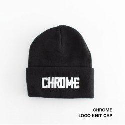 CHROME (クローム) LOGO KNIT CAP (ロゴ ニット キャップ) BLACK 【メール便対応】