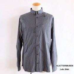 KLATTERMUSEN (クレッタルムーセン) Lofn Shirt (ロフン シャツ) M´s Storm Blue Melange