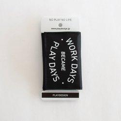 PLAYDESIGN (プレイデザイン) PLAYWALLET B (プレイウォレットB) Black【メール便対応】