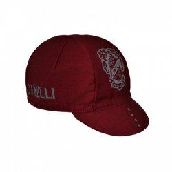 Cinelli(チネリ) CREST CAP (クレストキャップ) BURGUNDY サイクルキャップ 【メール便対応】