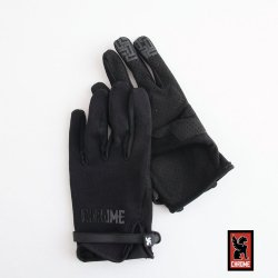 CHROME(クローム) CYCLING GLOVES(サイクリンググローブ) Black 【メール便対応】