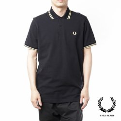 <img class='new_mark_img1' src='https://img.shop-pro.jp/img/new/icons14.gif' style='border:none;display:inline;margin:0px;padding:0px;width:auto;' />Fred Perry(フレッドペリー)  M12  BLACK/CHAMP(157)