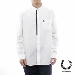 Fred Perry(フレッドペリー) Taped Placket Shirt SNOW WHITE