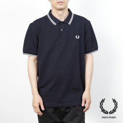<img class='new_mark_img1' src='https://img.shop-pro.jp/img/new/icons14.gif' style='border:none;display:inline;margin:0px;padding:0px;width:auto;' />Fred Perry(フレッドペリー)  M3600  238(NAVY/WHITE/WHITE)