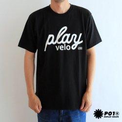 PLAYDESIGN(プレイデザイン)×twopedal  PLAY VELO(プレイベロ) Tee ブラック
