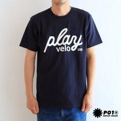 PLAYDESIGN(プレイデザイン)×twopedal  PLAY VELO(プレイベロ) Tee ネイビー