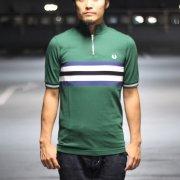 FREDPERRY(フレッドペリー) Bradley Wiggins(ブラッドリー・ウィギンス) Bomber Stripe Shirt  IVY[セール]
