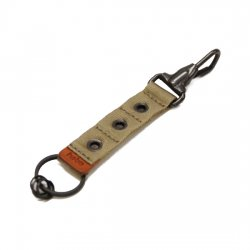 hobo(ホーボ)  Nylon Tape Key Ring with Eyelet  BEIGE 【メール便対応】