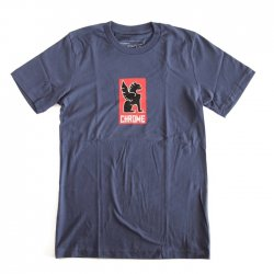 CHROME(クローム)  LOCK UP TEE NAVY[セール]