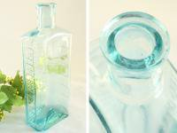 アンティーク 古いガラス瓶/ボトル/一輪差し/花瓶/花器(a0400031-10)