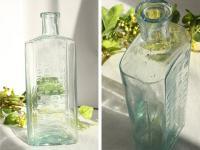 イギリスアンティーク 古いガラス瓶/ボトル/一輪差し/花瓶/花器(a0400031-18)